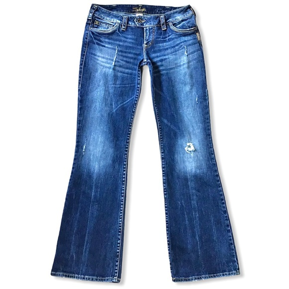 SILVER JEANS   Tuesday Low Rise Distressed 30x32.5